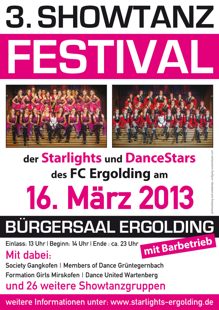 Plakat Showtanzfetival