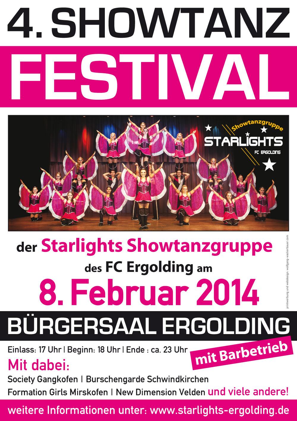 4. Showtanzfesival der Starlights Ergolding am 8. Februar 2014