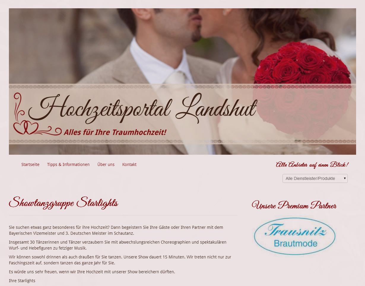 Link zu unserer Seite auf dem Hochzeitsportal Landshut